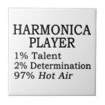 Aire caliente del jugador de la armónica azulejos ceramicos
