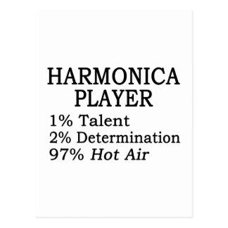 Aire caliente del jugador de la armónica tarjetas postales