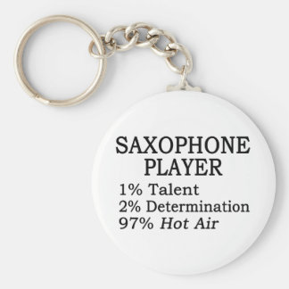 Aire caliente del jugador de saxofón llavero redondo tipo pin