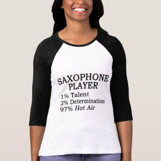 Aire caliente del jugador de saxofón camiseta