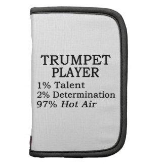 Aire caliente del jugador de trompeta planificador