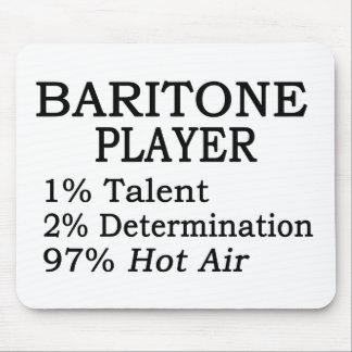 Aire caliente del jugador del barítono mousepad