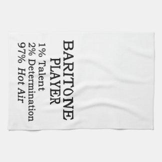 Aire caliente del jugador del barítono toallas