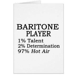 Aire caliente del jugador del barítono tarjeta de felicitación