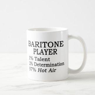 Aire caliente del jugador del barítono taza clásica