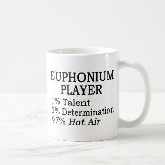 Aire caliente del jugador del Euphonium Taza Clásica
