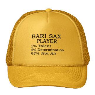 Aire caliente del saxofón de Bari Gorro