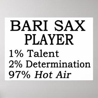 Aire caliente del saxofón de Bari Póster
