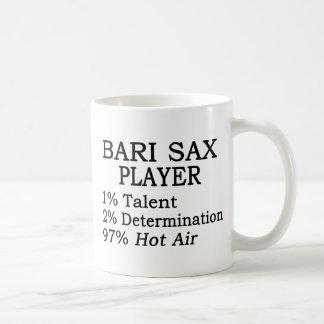 Aire caliente del saxofón de Bari Taza