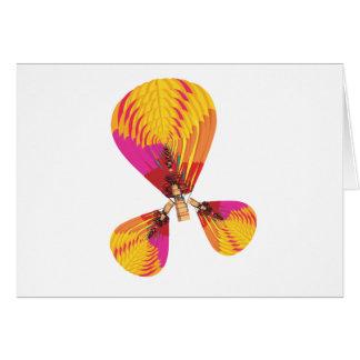 Aire caliente tarjeta de felicitación
