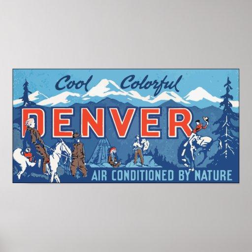 Aire colorido fresco de Denver condicionado por la Póster