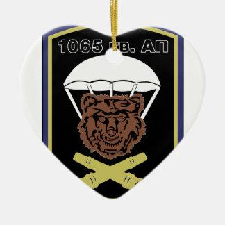 Aire de los guardias del stofmerker de los adorno navideño de cerámica en forma de corazón