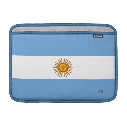 """Aire de oro 11"""" de Macbook de la bandera azul de S Fundas Para Macbook Air"""