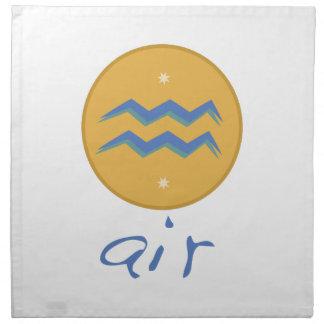 Aire del acuario servilleta de papel
