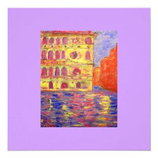 """aire del plein de Venecia Invitación 5.25"""" X 5.25"""""""
