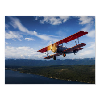 Aire del viaje de Kalispell Póster
