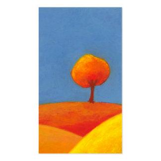 Aire fresco del paisaje del día soleado colorido d tarjetas personales