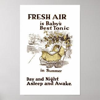 Aire fresco para el bebé - modificado para requisi póster