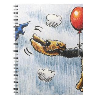 Aire-Globo Airedale Terrier Libro De Apuntes Con Espiral