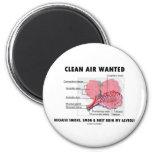 Aire limpio querido (humor de los alvéolos de la s imán de frigorífico