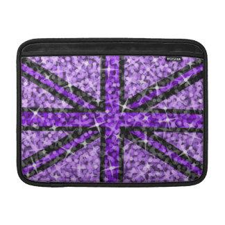 """Aire negro púrpura británico 13"""" de Macbook de la  Fundas MacBook"""