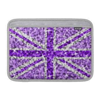 """Aire púrpura británico 11"""" de Macbook de la mirada Fundas Macbook Air"""