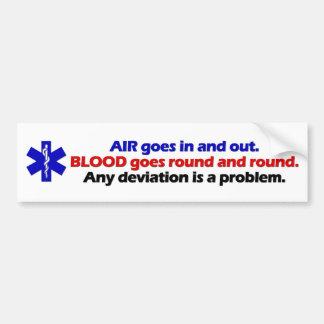 Aire/sangre Etiqueta De Parachoque