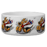 Aire-Sledding Airedale Terrier Dog Bowl