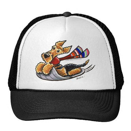 Aire-Sledding Airedale Terrier Trucker Hat
