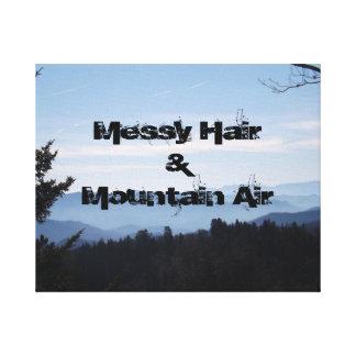 Aire sucio del pelo y de la montaña lienzo envuelto para galerías