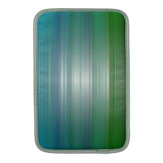 Aire verde y azul 11 de MacBook de la plasticidad Fundas Macbook Air