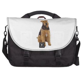 Airedael Terrier (c) - sentándose Bolsas Para Portatil