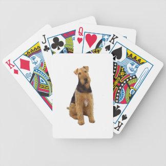 Airedael Terrier (c) - sentándose Barajas De Cartas