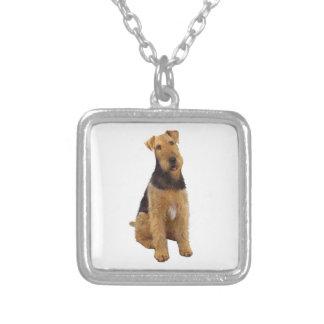 Airedael Terrier (c) - sentándose Grimpola Personalizada