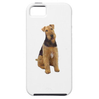 Airedael Terrier (c) - sentándose iPhone 5 Case-Mate Cobertura