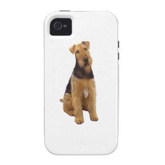 Airedael Terrier (c) - sentándose iPhone 4/4S Carcasas