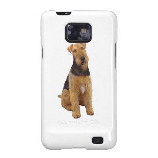 Airedael Terrier (c) - sentándose Samsung Galaxy S2 Fundas