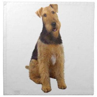 Airedael Terrier (c) - sentándose Servilletas De Papel
