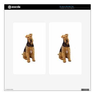 Airedael Terrier (c) - sentándose Skin Para Kindle Fire