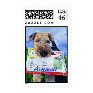 Airedale Airemail Stamp