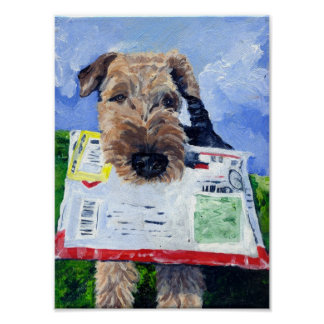 Airedale Airemail Poster. Poster