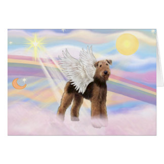 Airedale Angel Greeting Card