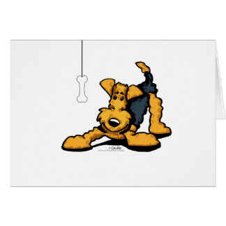 Airedale at Play Card