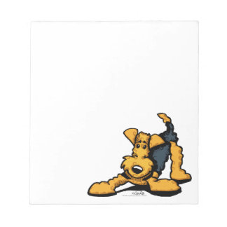 Airedale at Play Notepad
