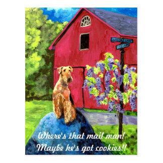 Airedale Barn Postcard