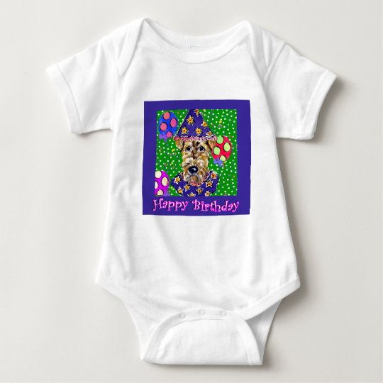 Airedale Birthday Baby Bodysuit