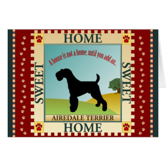 Airedale Greeting Card