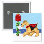Airedale Christmas Dale Mail Buttons