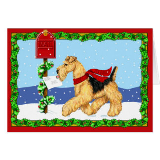 Airedale Christmas Dale Mail Greeting Cards