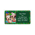 Airedale Christmas Open Now Custom Address Labels